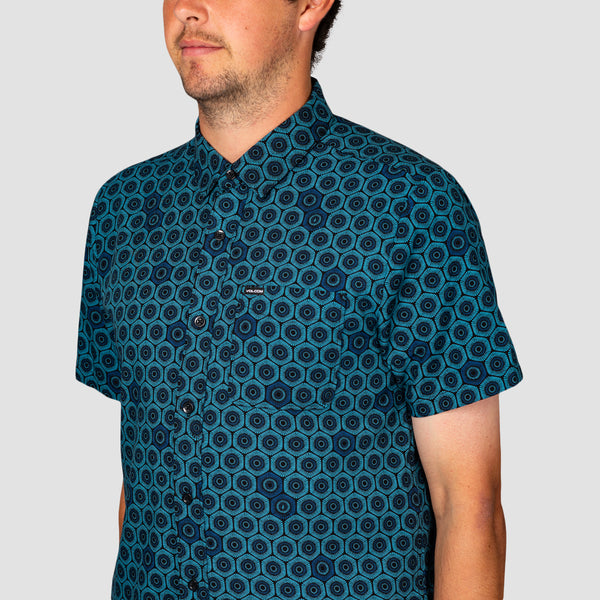 Volcom Sun Medallion Short Sleeve Shirt Black