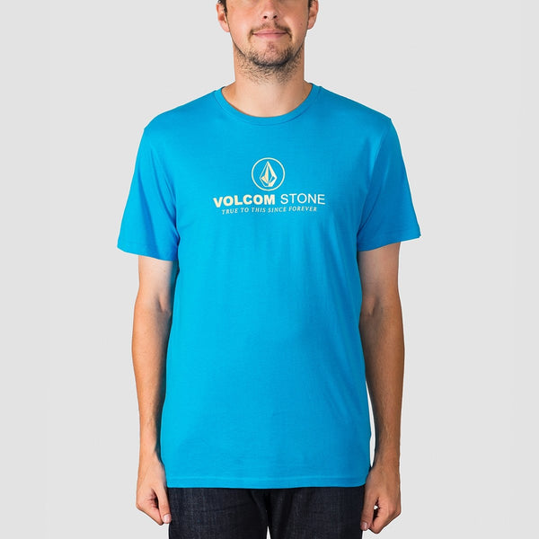 Volcom Super Clean Tee Cyan Blue - Clothing