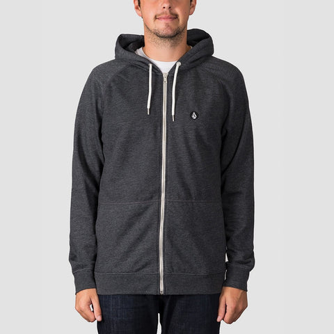 Volcom Timesoft Heather Zip Hood Heather Black