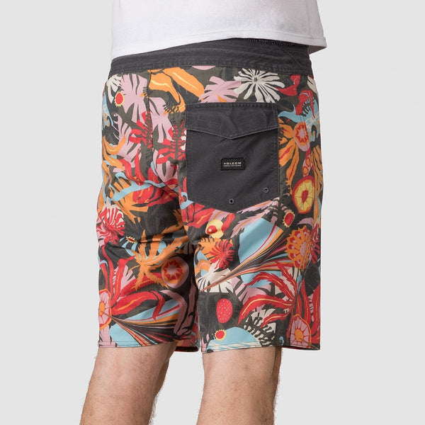 Volcom Tripped Stoney 19 Boardshorts Dark Olive - Clothing