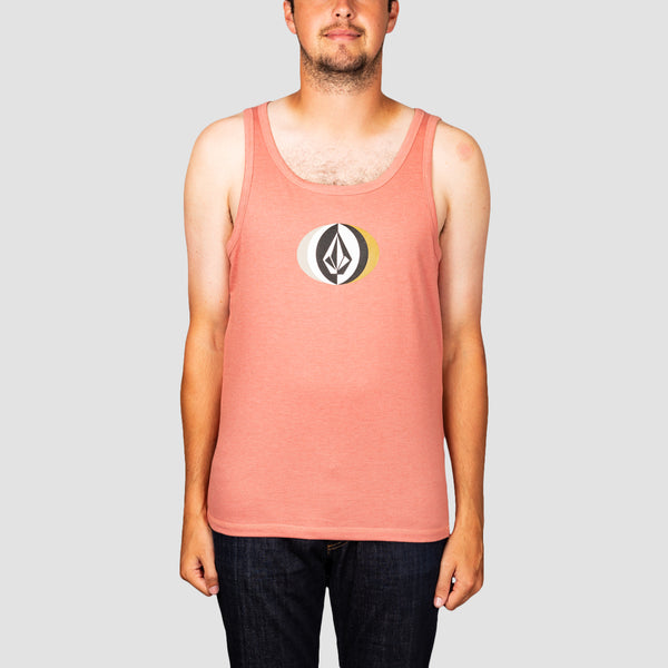 Volcom Vast Heather Tank Vest Sandstone
