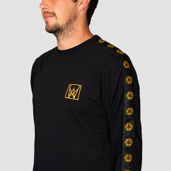 Welcome Chalice Taped Longsleeve Knit Tee Black/Gold