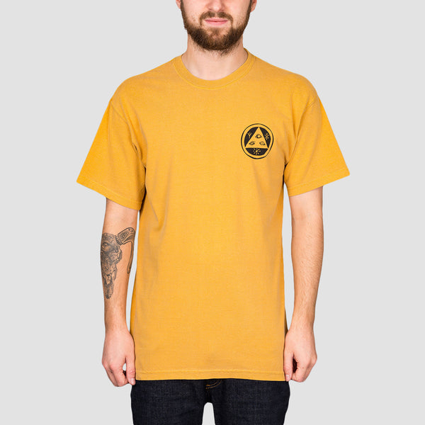 Welcome Goodbye Horses Tee Gold