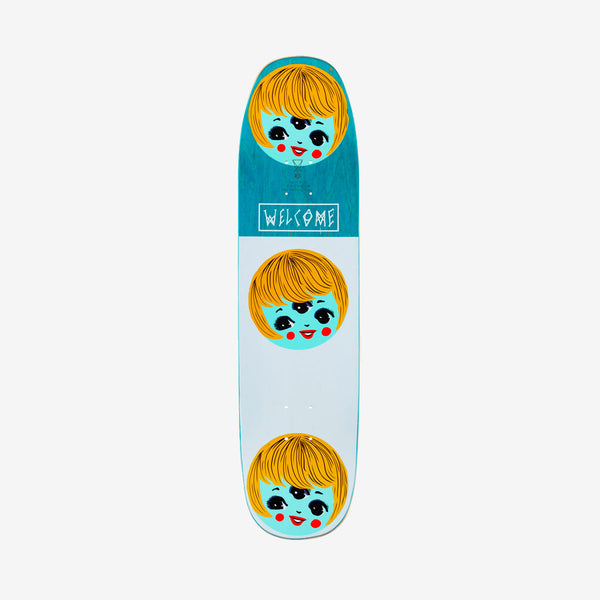 Welcome Peggy on Sone of Moontrimmer Deck Black - 8.25""