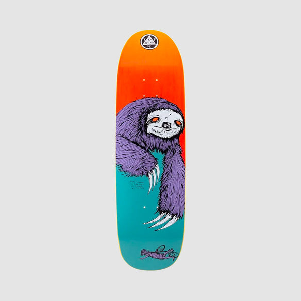Welcome Sloth on Boline Deck Teal/Yellow Stain - 9.25""