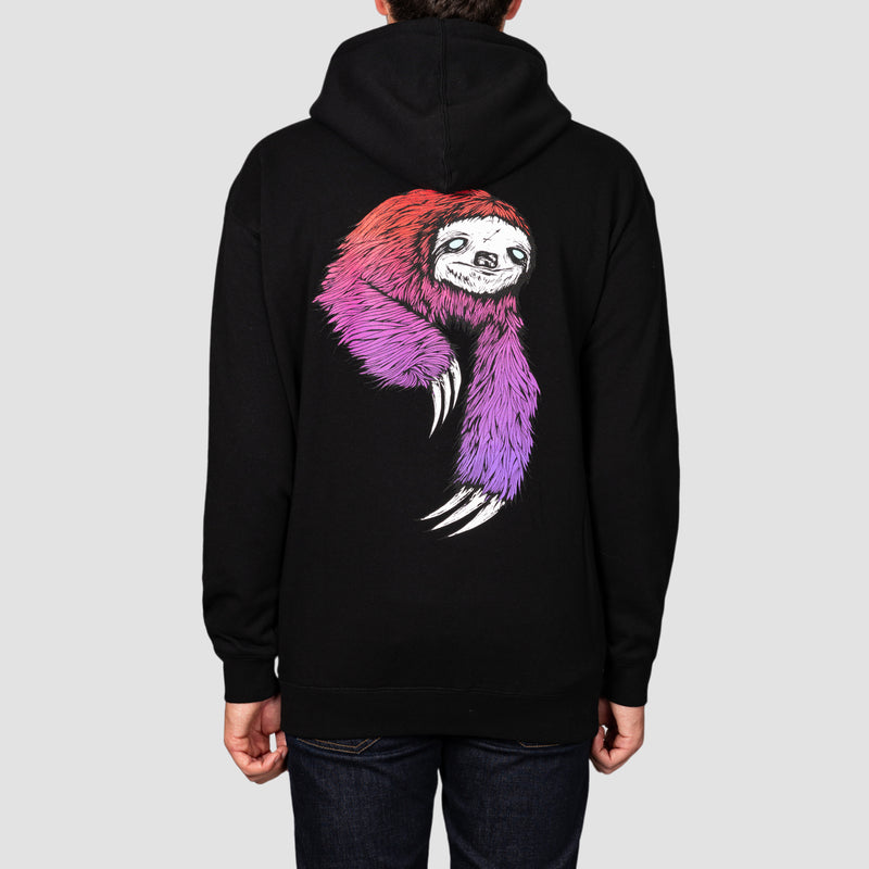 Welcome Sloth Pullover Hood Black/Red/Purple