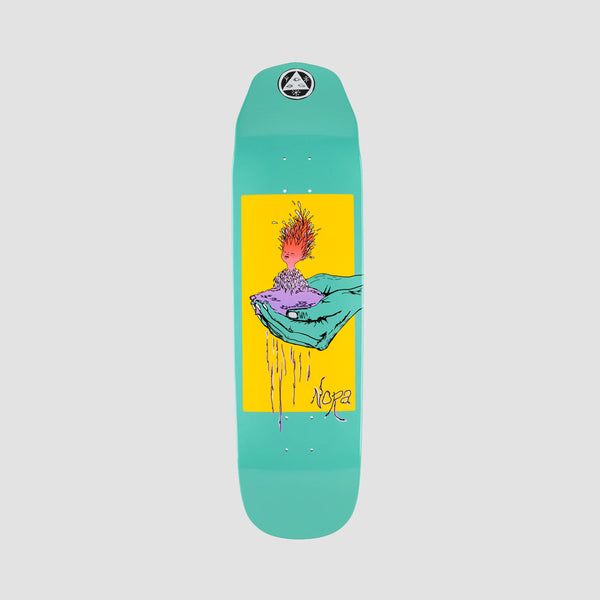 Welcome Soil on Wicked Queen Nora Vasconcellos Pro Deck Teal Dip - 8.6""