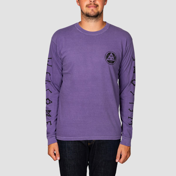 Welcome Tali-Scrawl Garment-Dyed Longsleeve Tee Grape/Black