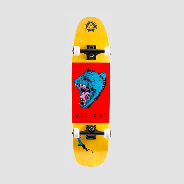 Welcome Tasmanian Angel Complete on Scaled Down Nimbus 3000 Yellow/Red/Blue - 8.25 - Skateboard
