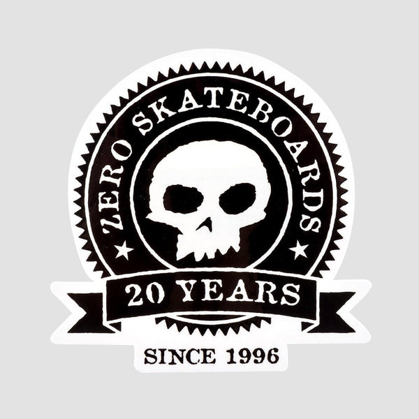 Zero 20 Year Anniversary Sticker 82mm x 82mm - Skateboard