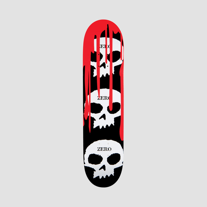 Zero 3 Skull Blood Deck Black/White/Red - 8.25""