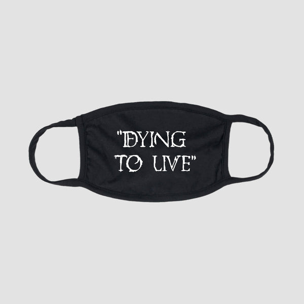 Zero Dying to Live Face Mask Black/White