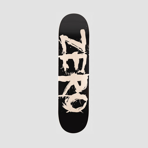 Zero Blood Font Deck Black/Transparent White - 8.25""