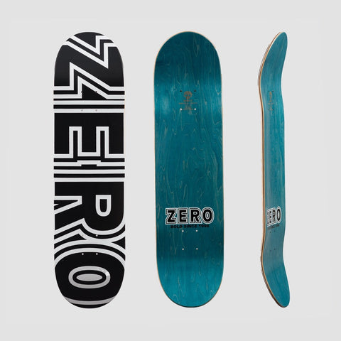 Zero Bold Deck Black/White - 8.25 - Skateboard