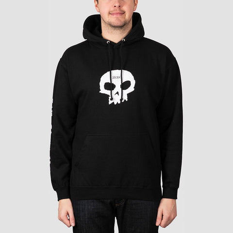 Zero Dying To Live Single Skull Pullover Hood Black/White
