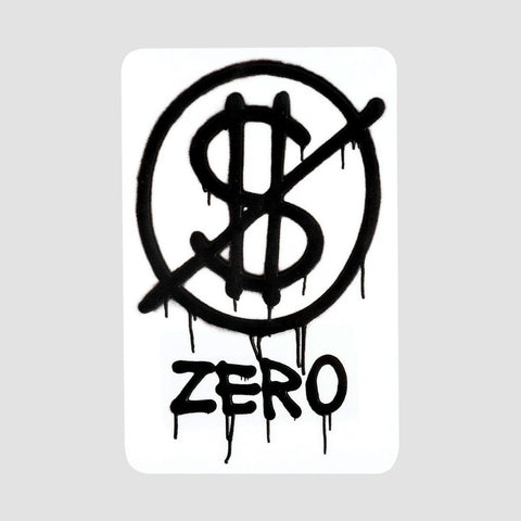 Zero Hardluck Sticker Black 108x70mm