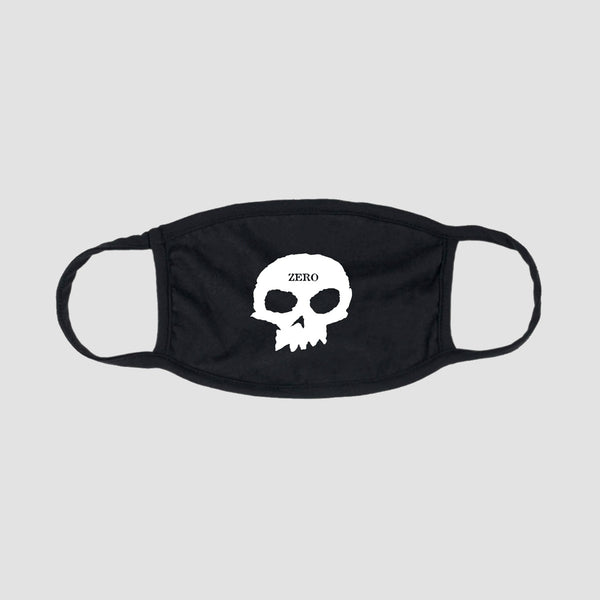 Zero Single Skull Face Mask Black/White