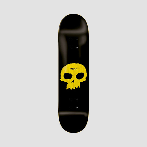 Zero Single Skull Hybrid Deck Black/Yellow - 8""