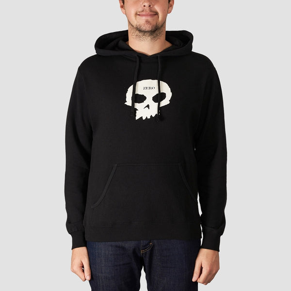 Zero Single Skull Pullover Hood Black/White - Clothing