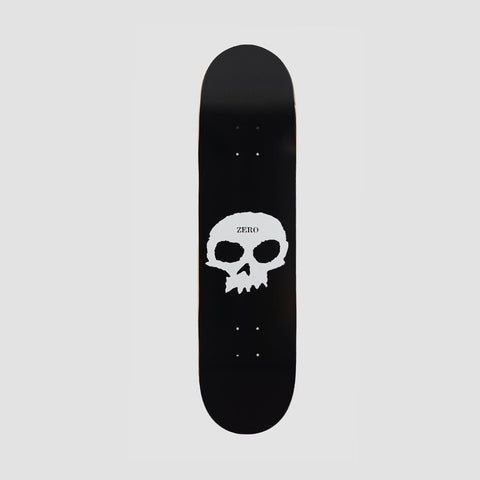 Zero Single Skull R7 Deck Black/White - 8.25""