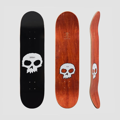 Zero Single Skull R7 Deck Black/White - 8.25 - Skateboard
