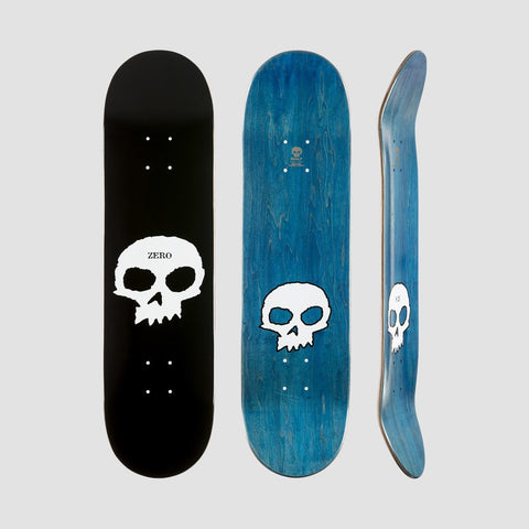 Zero Single Skull R7 Deck Black/White - 8.5 - Skateboard