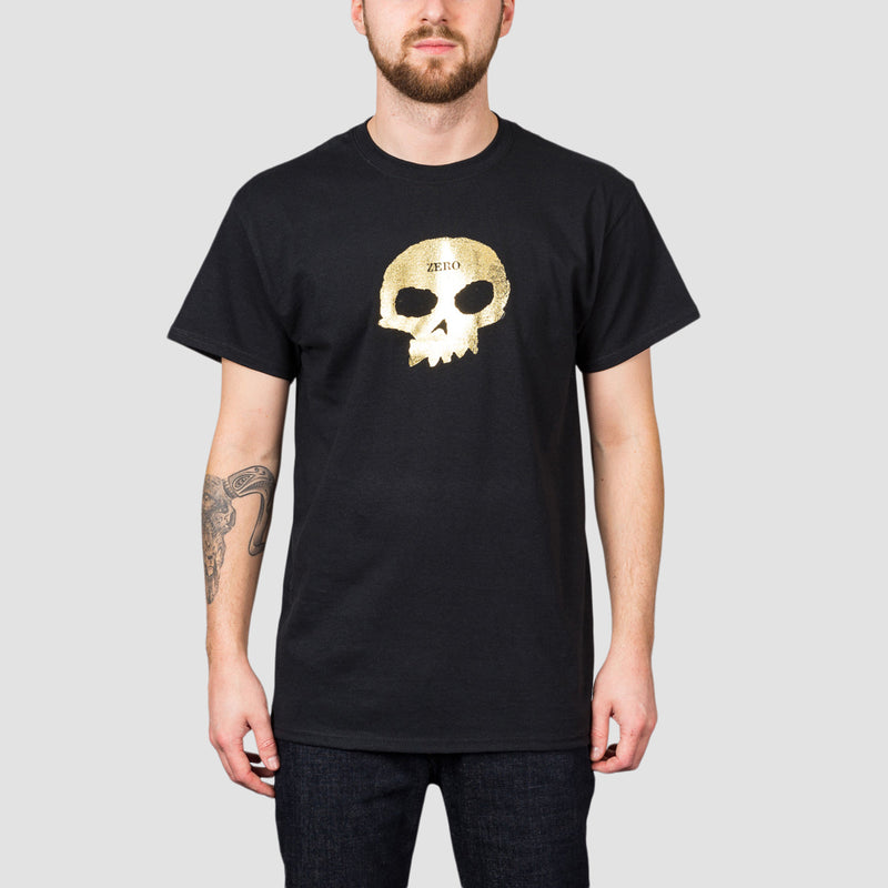 Zero Single Skull Tee Black/Gold Foil
