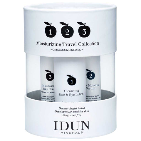 IDUN Minerals Moisturizing Travel Collection - Normal til Kombineret Hud
