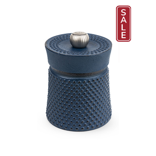 Bali Cast Iron Pepper Mill, Blue, filled with Szechuan Pepper - 36621