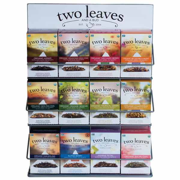 Two Leaves and a Bud Rack 12ct tea box rack