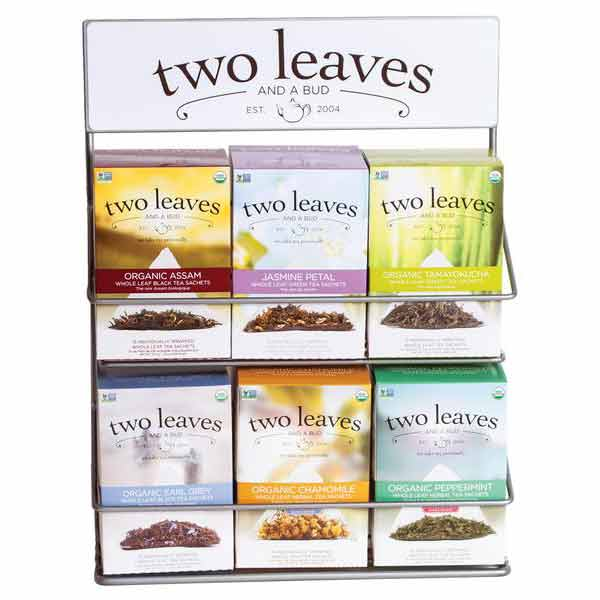 Two Leaves and a Bud Rack 6 ct tea box