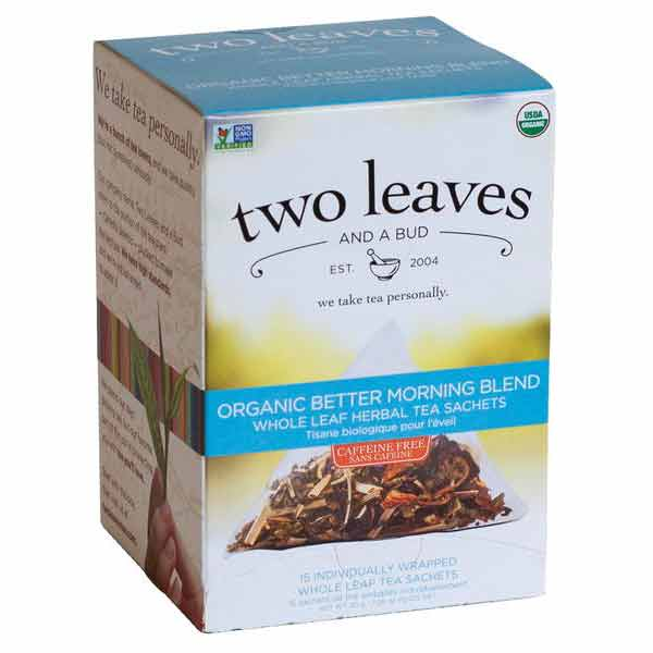Two Leaves and a Bud Organic Better Morning Blend Tea