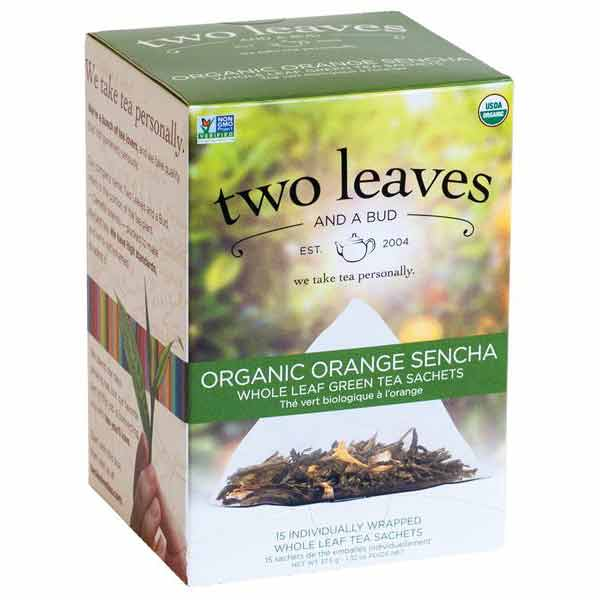 Two Leaves a Bud Organic Orange Sencha Green Tea