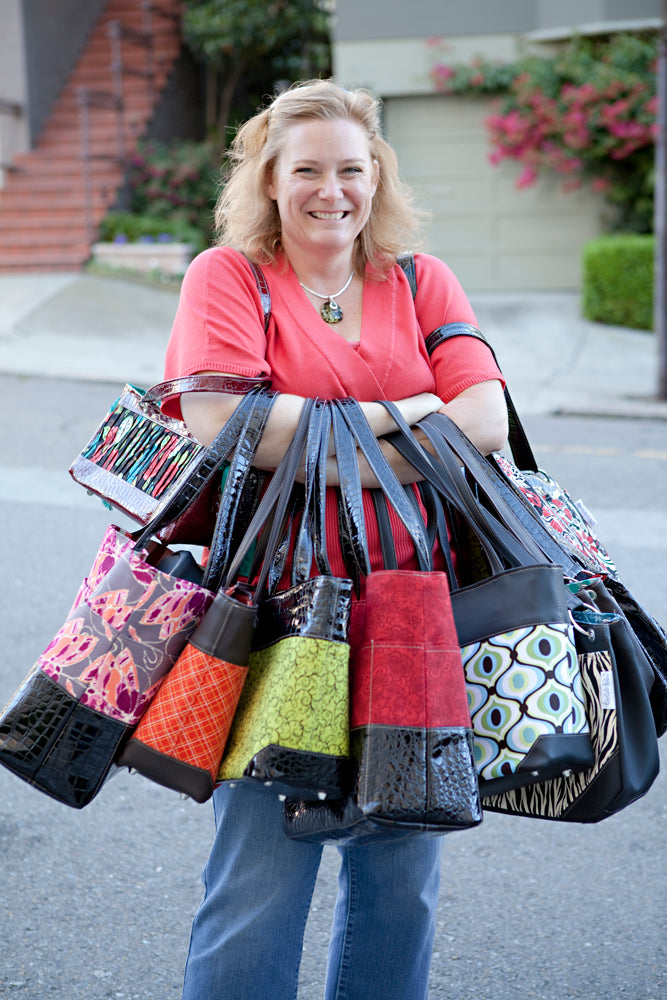Karen Scott the founder of Too Cute Totes