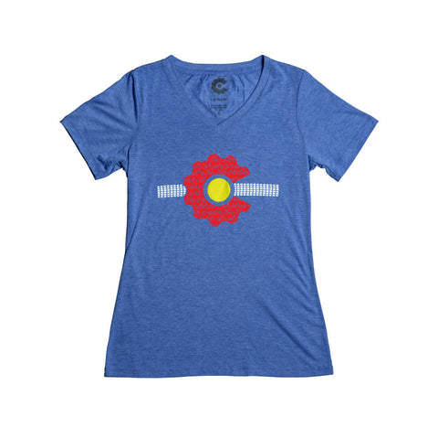 CO flag t-shirt womens