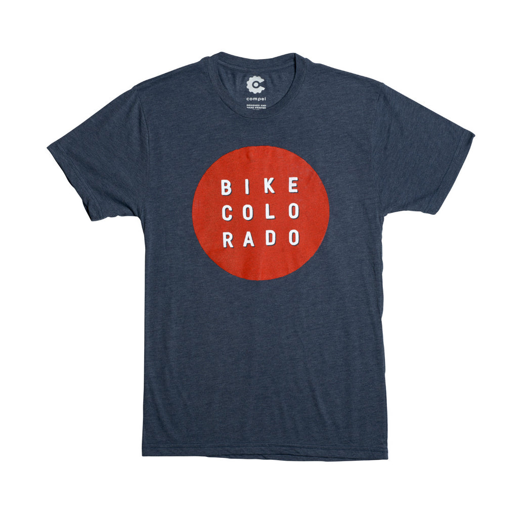 Red Dot Men's T-Shirt - Indigo
