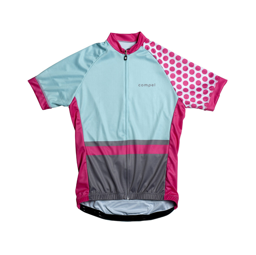 red dots womens cycling jersey