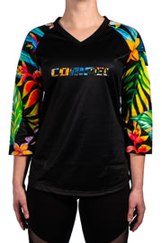 Tropical Women's MTB Jersey 3/4 Sleeve