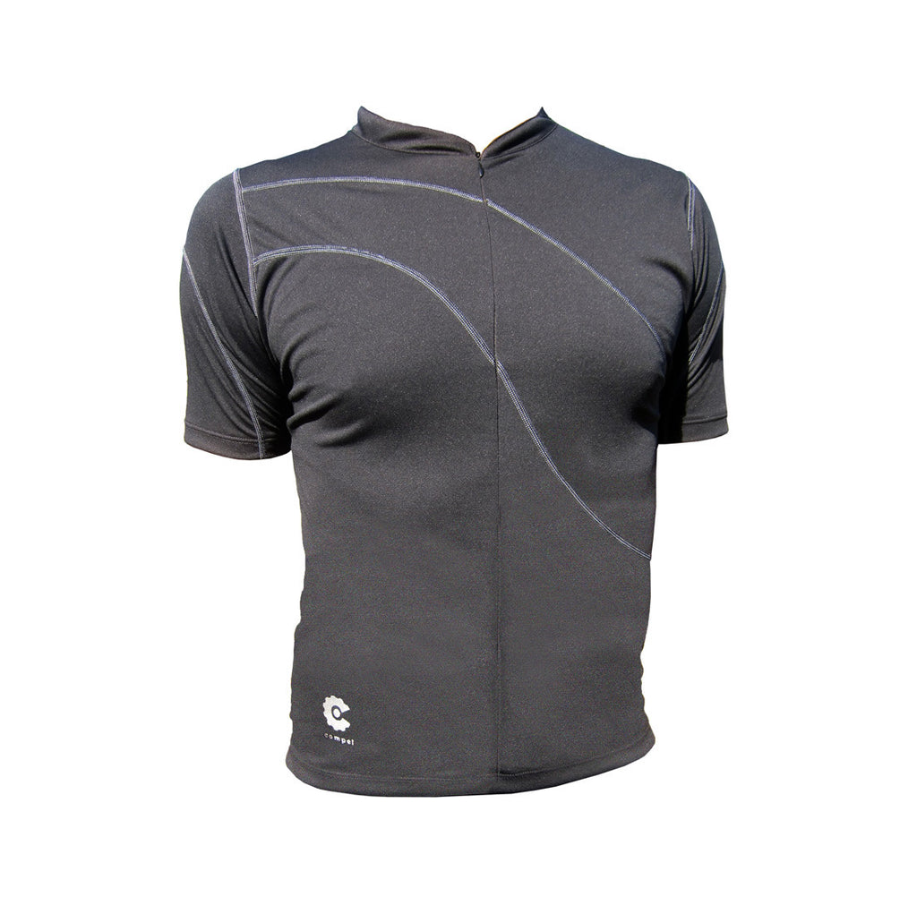 mens black cycling jersey