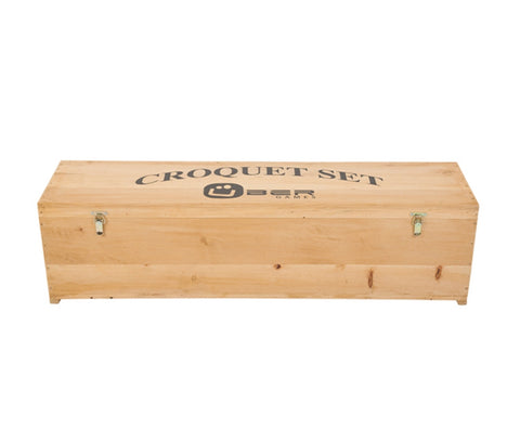 Wooden Croquet Set Box