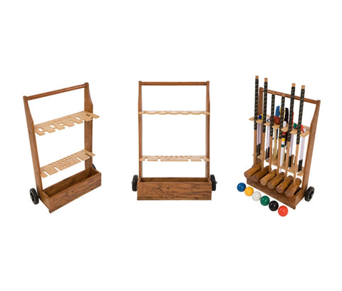 Wooden Croquet Set Trolley