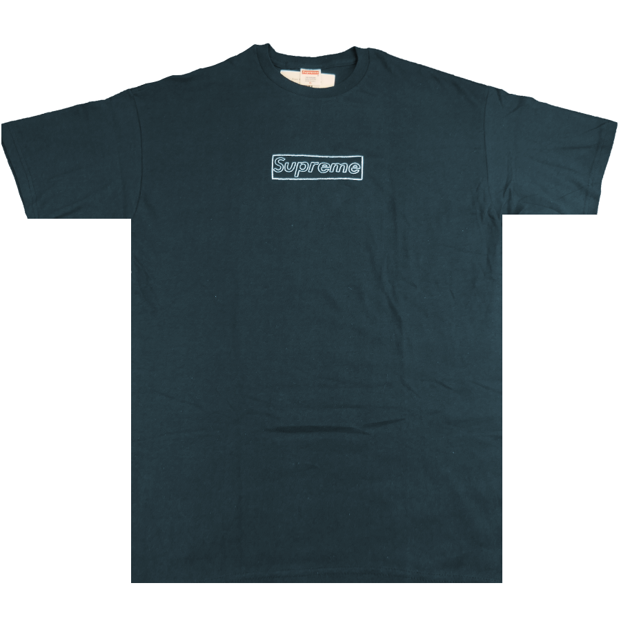 Kaws Box Logo Tee Navy