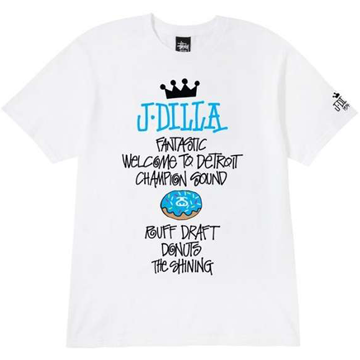 Stussy J DIlla Discography Tee White/Blue