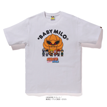 Bape x Naruto Tee #5 Nine Tails With All Characters White, Bape, Kenshi Toronto