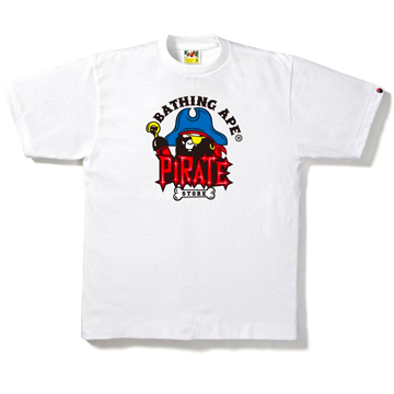 Captain Pirate Store Ape Head Tee White