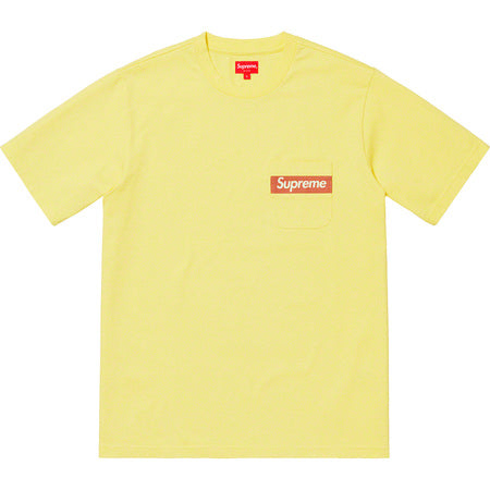 Mesh Stripe Pocket Tee Pale Yellow, Supreme, Kenshi Toronto