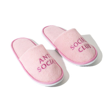 Anti Social Social Club No Shoes Slippers Pink