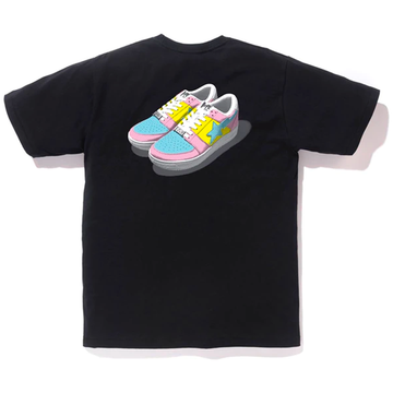 BAPE Bapesta Color Tee Black/Pink