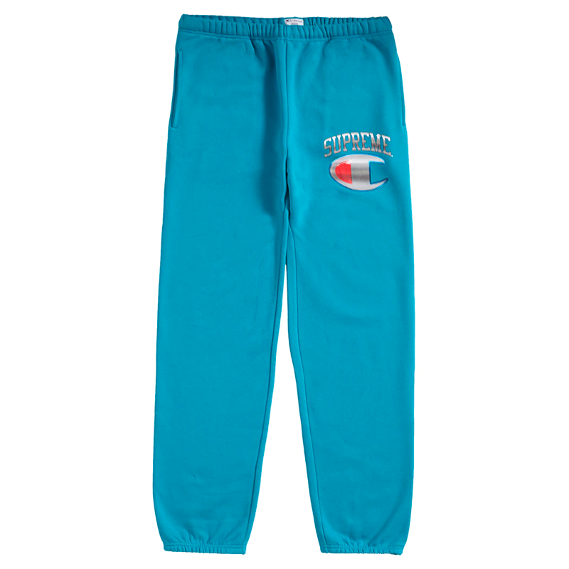 Supreme Champion Chrome Logo Sweat Pants Teal