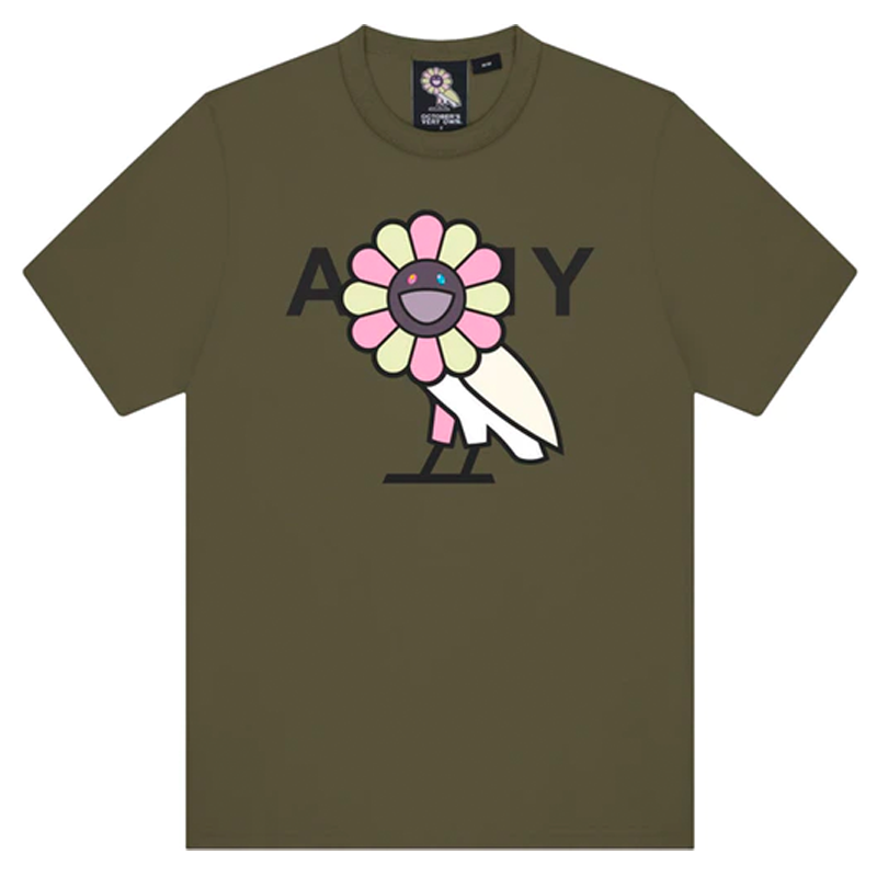 OVO x Murakami Tee Surplus Army Tee Green